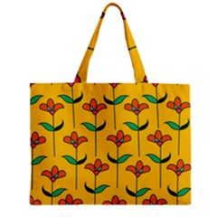 Small Flowers Pattern Floral Seamless Vector Zipper Mini Tote Bag