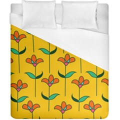 Small Flowers Pattern Floral Seamless Vector Duvet Cover (california King Size) by Simbadda