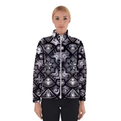 Geometric Line Art Background In Black And White Winterwear