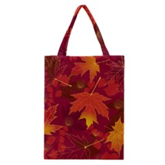 Autumn Leaves Fall Maple Classic Tote Bag by Simbadda