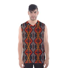 Seamless Pattern Digitally Created Tilable Abstract Men s Basketball Tank Top