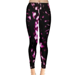 Background Structure Magenta Brown Leggings  by Simbadda