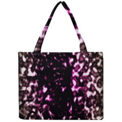 Background Structure Magenta Brown Mini Tote Bag by Simbadda