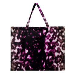 Background Structure Magenta Brown Zipper Large Tote Bag by Simbadda