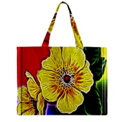 Beautiful Fractal Flower In 3d Glass Frame Zipper Mini Tote Bag