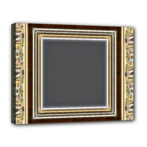 Fractal Classic Baroque Frame Canvas 14  X 11  by Simbadda