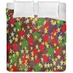 Star Abstract Multicoloured Stars Background Pattern Duvet Cover Double Side (california King Size) by Simbadda