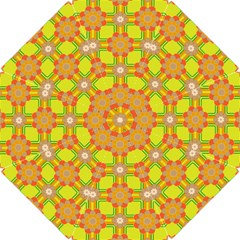 Floral Pattern Wallpaper Background Beautiful Colorful Hook Handle Umbrellas (small) by Simbadda