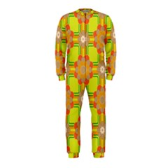 Floral Pattern Wallpaper Background Beautiful Colorful Onepiece Jumpsuit (kids)