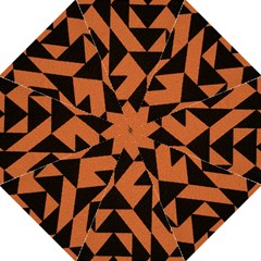 Brown Triangles Background Golf Umbrellas by Simbadda