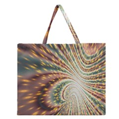 Vortex Glow Abstract Background Zipper Large Tote Bag by Simbadda