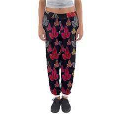 Leaves Pattern Background Women s Jogger Sweatpants by Simbadda