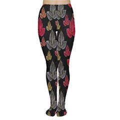 Leaves Pattern Background Women s Tights