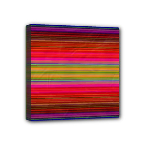 Fiestal Stripe Bright Colorful Neon Stripes Background Mini Canvas 4  X 4  by Simbadda