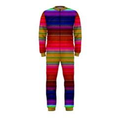 Fiestal Stripe Bright Colorful Neon Stripes Background Onepiece Jumpsuit (kids)