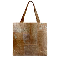 Texture Of Ceramic Tile Zipper Grocery Tote Bag by Simbadda