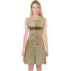 Texture Of Ceramic Tile Capsleeve Midi Dress by Simbadda