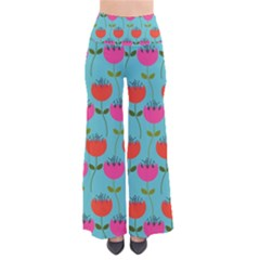 Tulips Floral Background Pattern Pants by Simbadda