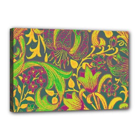 Floral Pattern Canvas 18  X 12  by Valentinaart