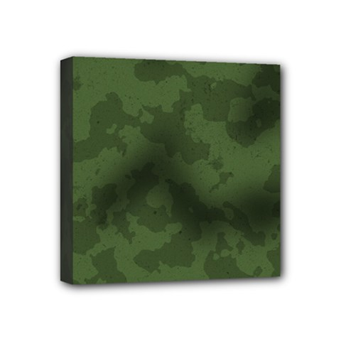 Vintage Camouflage Military Swatch Old Army Background Mini Canvas 4  X 4  by Simbadda