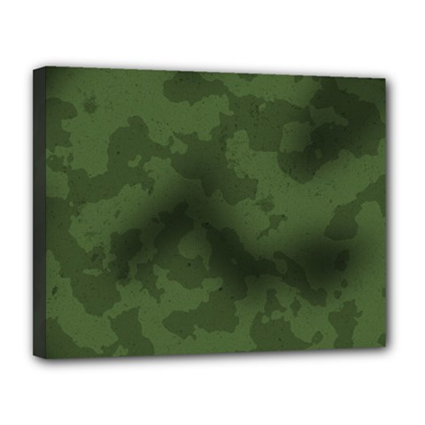 Vintage Camouflage Military Swatch Old Army Background Canvas 14  X 11  by Simbadda