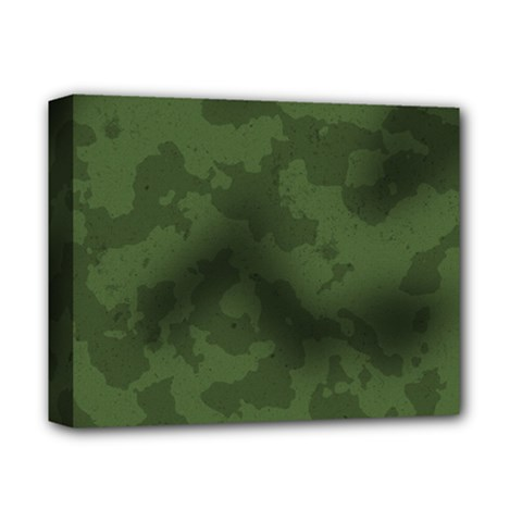 Vintage Camouflage Military Swatch Old Army Background Deluxe Canvas 14  X 11  by Simbadda