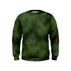 Vintage Camouflage Military Swatch Old Army Background Kids  Sweatshirt