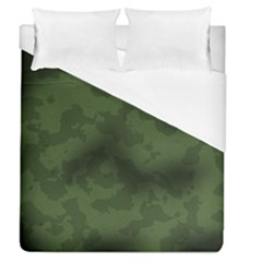 Vintage Camouflage Military Swatch Old Army Background Duvet Cover (queen Size) by Simbadda