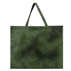 Vintage Camouflage Military Swatch Old Army Background Zipper Large Tote Bag by Simbadda