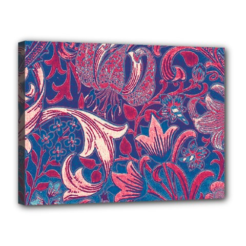 Floral Pattern Canvas 16  X 12  by Valentinaart