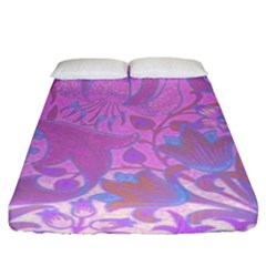 Floral Pattern Fitted Sheet (king Size) by Valentinaart
