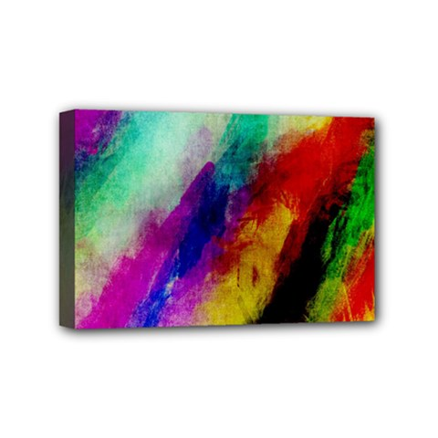 Colorful Abstract Paint Splats Background Mini Canvas 6  X 4  by Simbadda