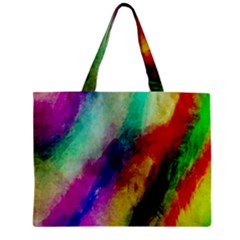 Colorful Abstract Paint Splats Background Zipper Mini Tote Bag