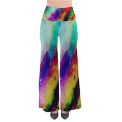 Colorful Abstract Paint Splats Background Pants by Simbadda