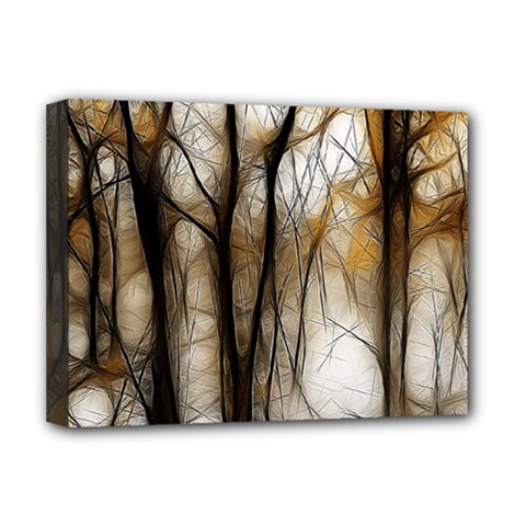 Fall Forest Artistic Background Deluxe Canvas 16  X 12   by Simbadda