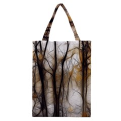 Fall Forest Artistic Background Classic Tote Bag by Simbadda