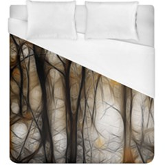 Fall Forest Artistic Background Duvet Cover (king Size) by Simbadda