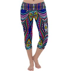 Colorful Geometric Design  Capri Yoga Leggings by GabriellaDavid