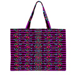 Raining Rain And Mermaid Shells Pop Art Zipper Large Tote Bag by pepitasart
