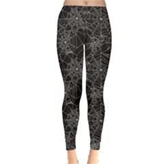 Black Halloween Spider Web Pattern Women s Leggings by CoolDesigns