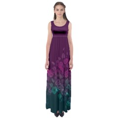 Purple Gradient Empire Waist Maxi Dress by CoolDesigns