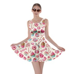 Pink Lollipop Candy Macaroon Cupcake Donut Skater Dress