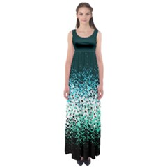 Teal Butterfly Floral Empire Waist Maxi Dress