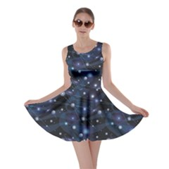 Blue Pattern Of Space Night Sky Skater Dress