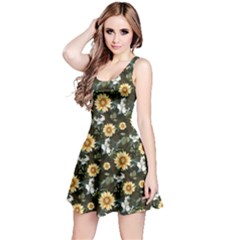 Daisy2 Floral Sleeveless Skater Dress