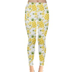 Yellow Pineapple Pattern Leggings by CoolDesigns