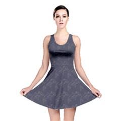Blue Hammerhead Shark Pattern Reversible Skater Dress by CoolDesigns