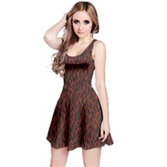 Dark Red Flame Hell Fire Seamless Sleeveless Dress