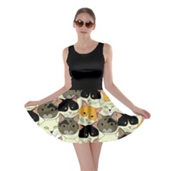 Cat Face Skater Dress by CoolDesigns