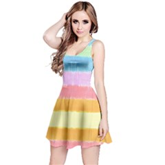 Rainbow Tie Dye Reversible Sleeveless Dress by CoolDesigns